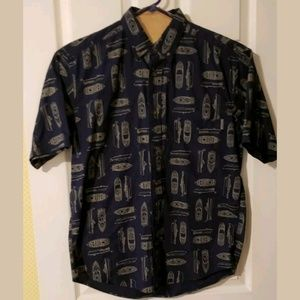 Woolrich Button Down Short Sleeve Shirt Mens SZ M